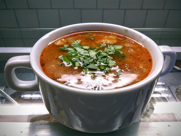 Суп-харчо с колбасой